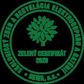 Zelený certifikát za rok 2020