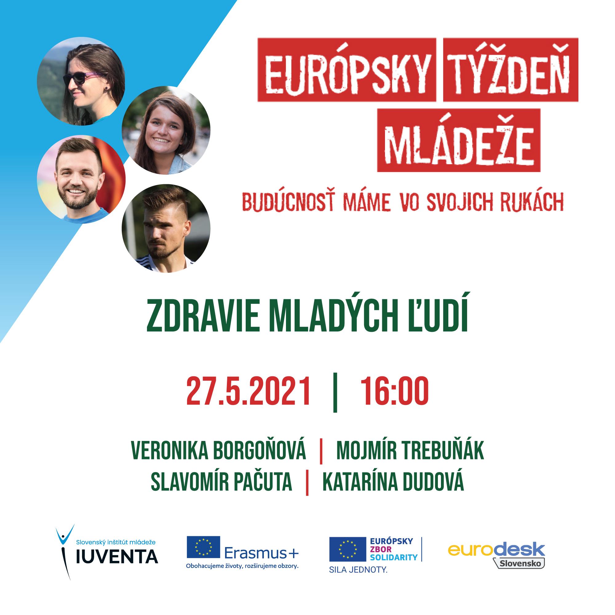 Európsky týždeň mládeže - čo nás čaká vo štvrtok, 27.5.2021